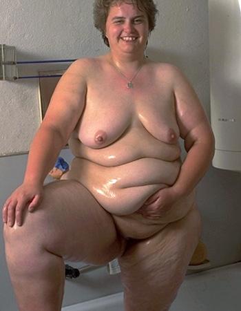 extrem fette Frau